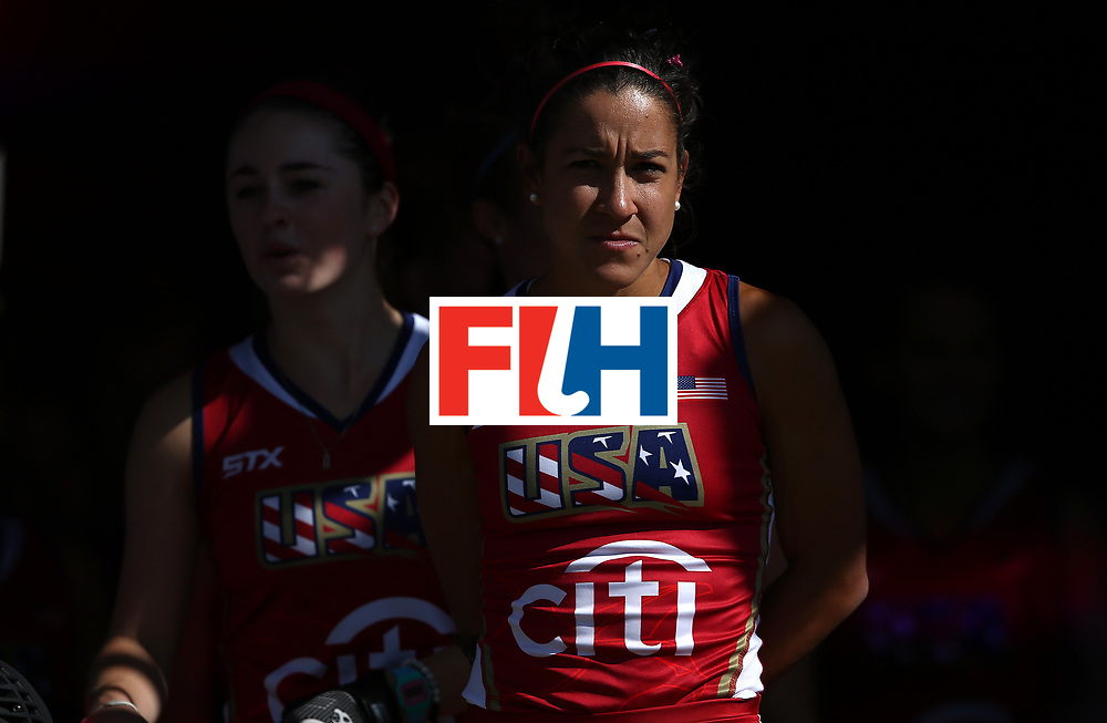 JOHANNESBURG, SOUTH AFRICA - JULY 18:  Melissa Gonzalez of United States of America waits in the tunnel with her team ahead of the Quarter Final match between the United States and Japan at Wits Univesity on July 18, 2017 in Johannesburg, South Africa.  (Photo by Jan Kruger/Getty Images for FIH)