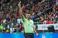 ALKMAAR - 26-02-2017, AZ - PEC Zwolle, AFAS Stadion, 1-1, scheidsrechter Pol van Boekel