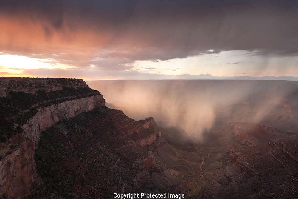 Monsoon storm, Shoshone Point, Grand Canyon, AZ