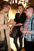 CHARLES TEYSSOU; CLEMENTINE VALLET; CHARLIE LEMANDU, Vogue: Fashion's Night Out: Armani. Bond st.  London. 8 September 2010.  -DO NOT ARCHIVE-© Copyright Photograph by Dafydd Jones. 248 Clapham Rd. London SW9 0PZ. Tel 0207 820 0771. www.dafjones.com.