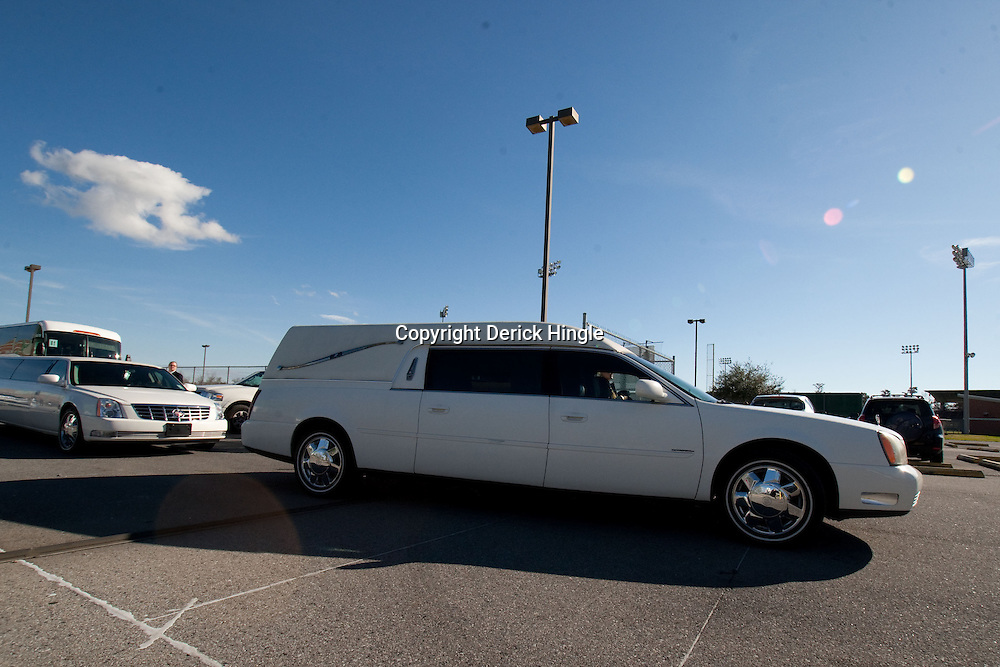 Dec 22, 2009; Westwego, LA, USA;  The hearse carrying the body of Cincinnati Bengals wide receiver Chris Henry leaves from the Alario Center. Mandatory Credit: Derick E. Hingle-US PRESSWIRE