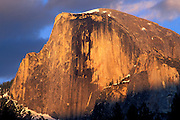 Evening light on Half Dome, Yosemite Valley, Yosemite National Park, California