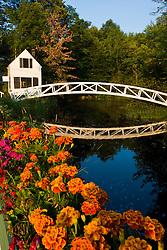 The pedestrian bridge in Somesville on Maine's Mount Desert Island.mOunt Desert Island Historical Society.