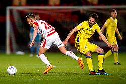 James Coppinger of Doncaster Rovers take son Edward Upson of Bristol Rovers - Mandatory by-line: Robbie Stephenson/JMP - 26/03/2019 - FOOTBALL - Keepmoat Stadium - Doncaster, England - Doncaster Rovers v Bristol Rovers - Sky Bet League One