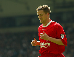 WEST BROMWICH, ENGLAND - Saturday, April 26, 2003: Liverpool's Michael Owen 'celebrates' his first goal against West Bromwich Albion during the Premiership match at the Hawthorns. (Pic by David Rawcliffe/Propaganda)