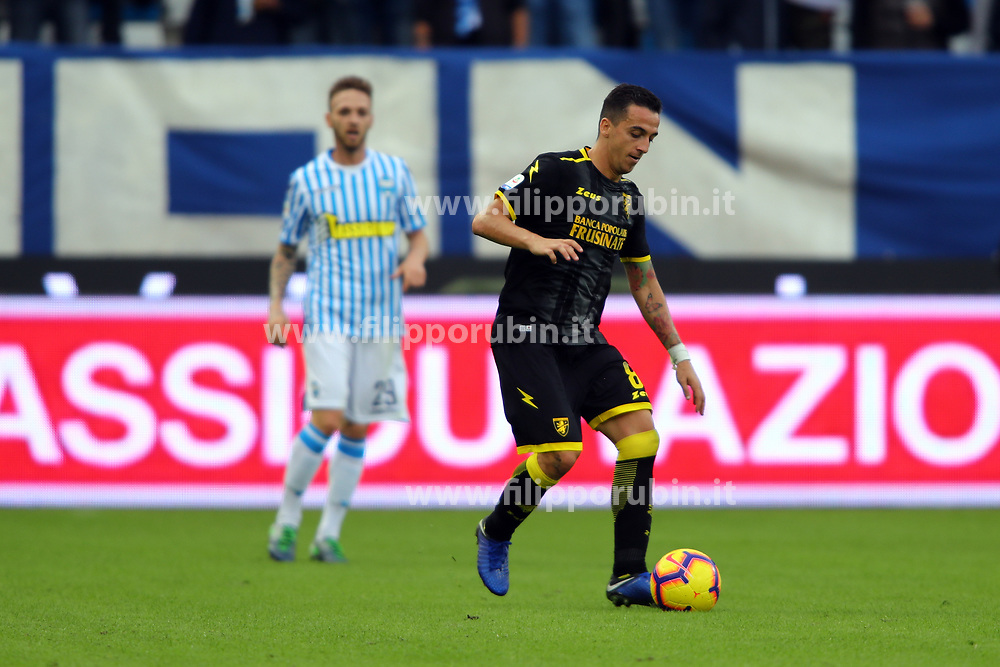 "Foto Filippo Rubin<br /> 28/10/2018 Ferrara (Italia)<br /> Sport Calcio<br /> Spal - Frosinone - Campionato di calcio Serie A 2018/2019 - Stadio ""Paolo Mazza""<br /> Nella foto: RAFFAELE MAIELLO (FROSINONE)<br /> <br /> Photo Filippo Rubin<br /> October 28, 2018 Ferrara (Italy)<br /> Sport Soccer<br /> Spal vs Frosinone - Italian Football Championship League A 2018/2019 - ""Paolo Mazza"" Stadium <br /> In the pic: RAFFAELE MAIELLO (FROSINONE)"