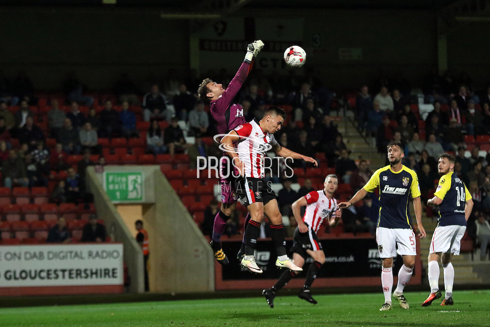 Billy Waters during the EFL Sky Bet League 2 match between Cheltenham Town and Stevenage at Whaddon Road, Cheltenham, England on 27 September 2016. Photo by Carl Hewlett.