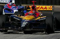 Bryan Herta and Dario Franchitti at St. Petersburg, Honda Grand Prix of St. Petersburg, April 3, 2005