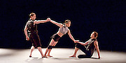 Russell Maliphant Company <br /> Conceal / Reveal <br /> at Sadler's Wells, London, Great Britain <br /> press photocall <br /> 24th November 2015 <br /> <br /> Dana Fouras <br /> Adam Kirkham <br /> Nathan Young <br /> <br /> <br /> Photograph by Elliott Franks <br /> Image licensed to Elliott Franks Photography Services