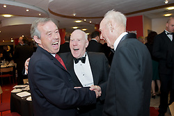 CARDIFF, WALES - Tuesday, October 7, 2008: Wales' Under-21 manager Brian Flynn shares a joke with friends at the Brains Beer Wales Football Awards at the Millennium Stadium. (Photo by David Rawcliffe/Propaganda)