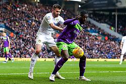 Hakeeb Adelakun of Bristol City takes on Stuart Dallas of Leeds United - Mandatory by-line: Robbie Stephenson/JMP - 24/11/2018 - FOOTBALL - Elland Road - Leeds, England - Leeds United v Bristol City - Sky Bet Championship