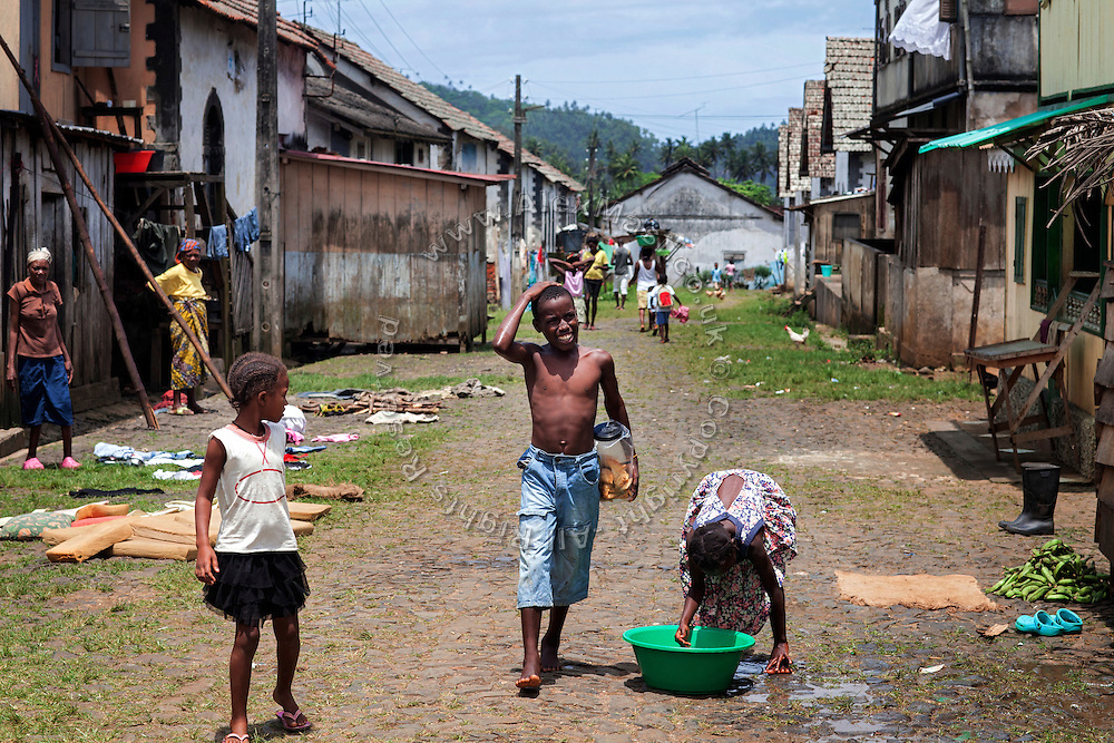 Many families are now living in Roça Agua Ize', on the island of Sao Tome, Sao Tome and Principe, (STP) a former Portuguese colony in the Gulf of Guinea, West Africa.