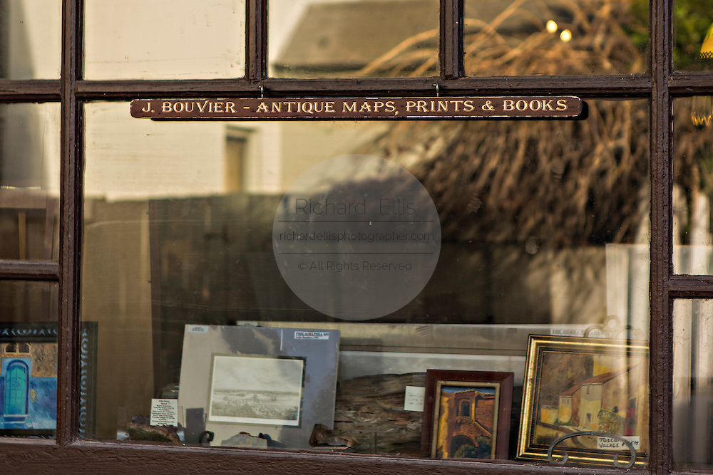 Shop on Aviles Street in the historic district in St. Augustine, Florida. St Augustine is the oldest city in America.