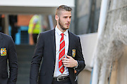 David De Gea of Manchester United before the Barclays Premier League match between Crystal Palace and Manchester United at Selhurst Park, London, England on 31 October 2015. Photo by Ellie Hoad.