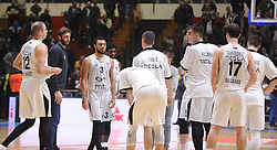 Players of Partizan look dejected after the basketball match between KK Partizan NIS Beograd and KK Petrol Olimpija in Round #9 of ABA League 2017/18, on November 18, 2017 in Hala Aleksandar Nikolic, Belgrade, Serbia. Photo by Nebojsa Parausic / Sportida
