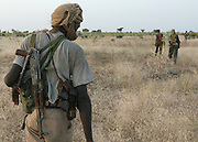(FILE) A file picture of rebels from the SLA (Sudan Liberation Army) on patrol in North Darfur Sunday 24 October 2004.<br /> <br /> African Union officials on Monday 08 November 2004 had consultations with rebels from JEM (Justice and Equality Movement) and SLA (Sudan Liberation Army) as well as Sudanese government representatives.<br /> <br /> EPA PHOTO/NIC BOTHMA