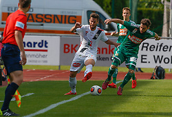 31.05.2015, Stadion Wolfsberg, Wolfsberg, AUT, 1. FBL, RZ Pellets WAC vs SK Rapid Wien, 35. Runde, im Bild v.l. Manuel Seidl (RZ Pellets WAC) und Thanos Petsos (SK Rapid Wien) // during the Austrian Football Bundesliga 35th Round match between RZ Pellets WAC and SK Rapid Vienna at the Stadium Wolfsberg in Wolfsberg Austria on 2015/05/31, EXPA Pictures © 2015, PhotoCredit: EXPA/ Wolfgang Jannach