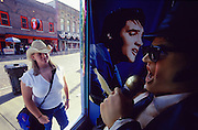 Beale Street, home of the Blues. Elvis Presley and Blues Brothers souvenirs.