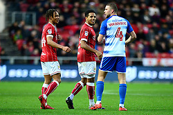 Bobby Reid of Bristol City and Korey Smith  - Mandatory by-line: Dougie Allward/JMP - 26/12/2017 - FOOTBALL - Ashton Gate Stadium - Bristol, England - Bristol City v Reading - Sky Bet Championship