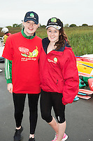 Laura O'Dea Galway City and Emma Connor Moycullen who took part in the 26th amphicat row in aid of  The Irish Guide Dogs for the Blind, on the Corrib <br /> . Photo: xposure