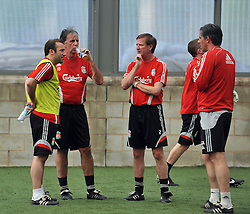 LIVERPOOL, ENGLAND - Tuesday, May 12, 2009: Ex-Liverpool players Mark Lawrensen, Ronnie Whelan and Gary Ablett during a training session at Melwood as the players prepare for the Hillsborough Memorial Game in aid of the Marina Dalglish Appeal which will be staged at Anfield on May 14. (Photo by Dave Kendall/Propaganda)
