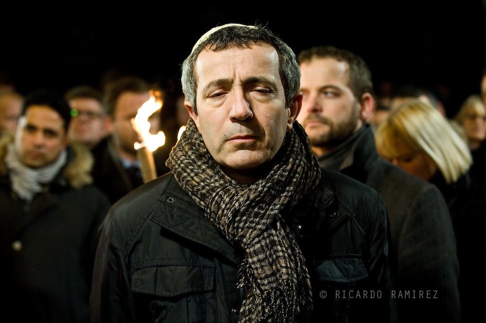 16.02.2015. Copenhagen, Denmark.<br /> Chairman of the Jewish Society Dan Rosenberg Asmussen attended a memorial rally for the victims and those injured in the attacks respectively Krudttønden and synagogue in Copenhagen.<br /> Photo: © Ricardo Ramirez