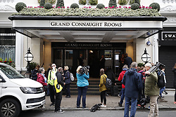 © Licensed to London News Pictures. 14/09/2017. London, UK. People arrive for the first day of the public inquiry into the Grenfell fire. Police say they believe 80 people died in the tragedy. Photo credit: Peter Macdiarmid/LNP