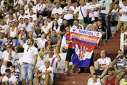 30.07.2015, Stadion Poljud, Split, CRO, UEFA EL, Hajduk Split vs Stroemsgodset IF, Qualifikation, 3. Runde, Hinspiel, im Bild Übersicht auf das Stadion, Fans, Choreographie // during the UEFA Europa League Qualifier 3rd round, 1st Leg Match between Hajduk Split and Stroemsgodset IF at the Stadion Poljud in Split, Croatia on 2015/07/30. EXPA Pictures © 2015, PhotoCredit: EXPA/ Pixsell/ Petar Glebov<br /> <br /> *****ATTENTION - for AUT, SLO, SUI, SWE, ITA, FRA only*****