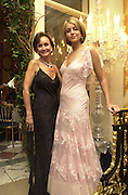 Lady Isabella Hervey and her mother Yvonne Marchioness of Bristol. Crillon Haute Couture Ball. Crillon Hotel, Paris. 2 December 2000. © Copyright Photograph by Dafydd Jones 66 Stockwell Park Rd. London SW9 0DA Tel 020 7733 0108 www.dafjones.com