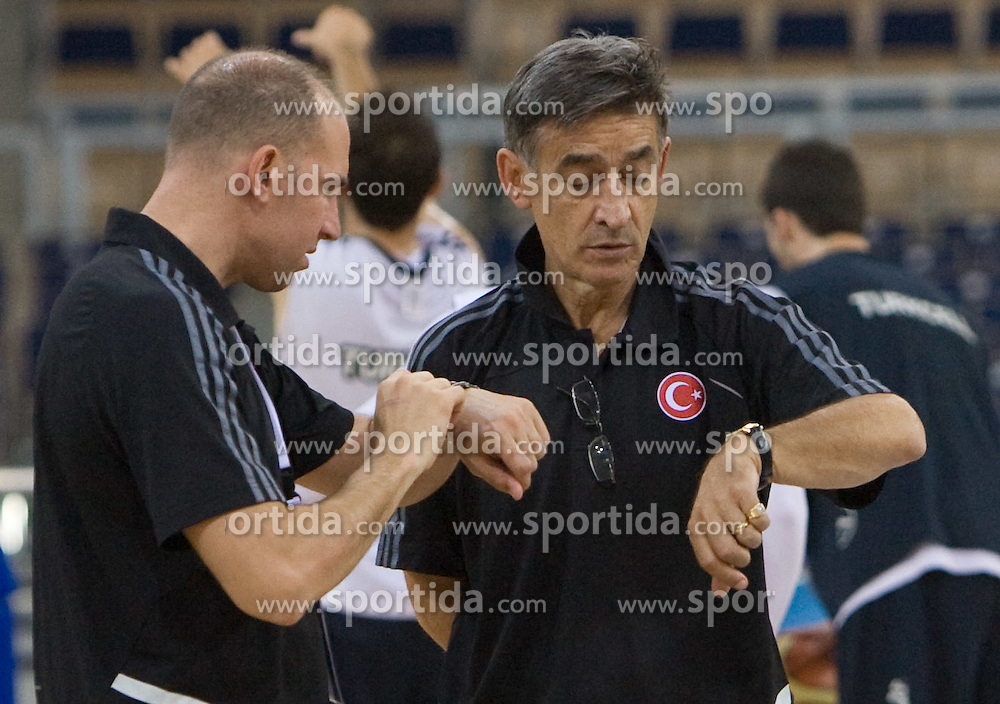 Head coach of Turkey Bogdan Tanjevic during the practice session, on September 11, 2009 in Arena Lodz, Hala Sportowa, Lodz, Poland.  (Photo by Vid Ponikvar / Sportida)