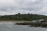 Inis Oirr coast the Aran Islands from the sea in Galway Ireland