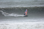 Saturday 8th February 2014: Windsurfing action at The Bluff beach with the Red Bull Storm Chaser riders.<br />