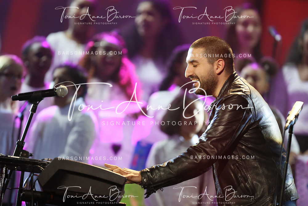 "PARIS, FRANCE - FEBRUARY 10:  Ibrahim Maalouf performs during the ""32nd Victoires de la Musique 2017"" at Le Zenith on February 10, 2017 in Paris, France.  (Photo by Tony Barson/FilmMagic)"