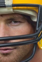 detail of a football player's face