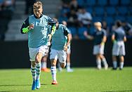 Frederik Juul Christensen (FC Helsingør) under opvarmningen til kampen i 2. Division mellem FC Helsingør og Vanløse IF den 24. august 2019 på Helsingør Ny Stadion (Foto: Claus Birch).