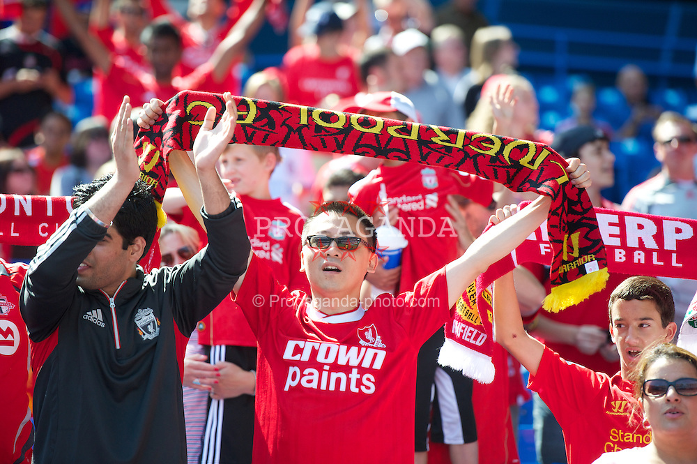 TORONTO, CANADA - Saturday, July 21, 2012: Liverpool supporters before the first match of the North American pre-season tour against Toronto at the Rogers Centre. (Pic by David Rawcliffe/Propaganda)