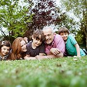---EXCLUSIF--- FRANCIS PERRIN, GERSANDE, LOUIS, CLARISSE & BAPTISTE, à leur domicile de Noisy le Roi