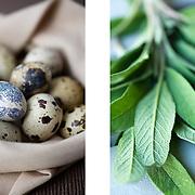 Quail eggs & sage