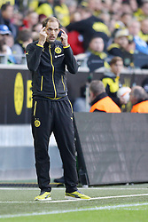 27.09.2015, Signal Iduna Park, Dortmund, GER, 1. FBL, Borussia Dortmund vs SV Darmstadt 98, 7. Runde, im Bild Trainer Thomas Tuchel (Borussia Dortmund) // during the German Bundesliga 7th round match between Borussia Dortmund and SV Darmstadt 98 at the Signal Iduna Park in Dortmund, Germany on 2015/09/27. EXPA Pictures © 2015, PhotoCredit: EXPA/ Eibner-Pressefoto/ Schueler<br /> <br /> *****ATTENTION - OUT of GER*****