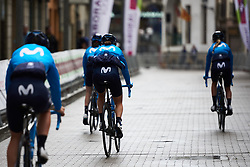 Movistar Women's Team make their way to sign on at Emakumeen Bira 2018 - Stage 3, a 114.5 km road race starting and finishing in Aretxabaleta, Spain on May 21, 2018. Photo by Sean Robinson/Velofocus.com