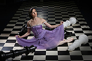 Amber Scott plays the lead role in the new Australian Ballet production of  Alice's adventures in Wonderland. Picture Chris Pavlich