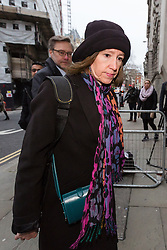 "© Licensed to London News Pictures. 12/01/2017. LONDON, UK.  SALLY LANE (front) and JOHN LETTS (back), the parents of Jack Letts, dubbed ""Jihadi Jack"",  arrive at The Central Criminal Court charged with terrorism offences. Jack Letts is believed to be the first white Briton to join Islamic State (ISIS) in Syria. John Letts and Sally Lane have pleaded not guilty to three counts of making money available knowing or having reasonable cause to suspect that it may be used for a terrorist purpose. Mrs Lane is charged with two further counts of attempting to provide money knowing it may be used to fund terrorism..  Photo credit: Vickie Flores/LNP"
