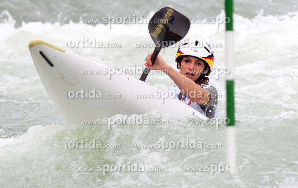 Ricarda Funk of Germany competes during Kayak (K1) Women semifinal race at ICF Canoe Slalom World Cup Sloka 2011, on June 26, 2011, in Tacen, Ljubljana, Slovenia. (Photo by Vid Ponikvar / Sportida)