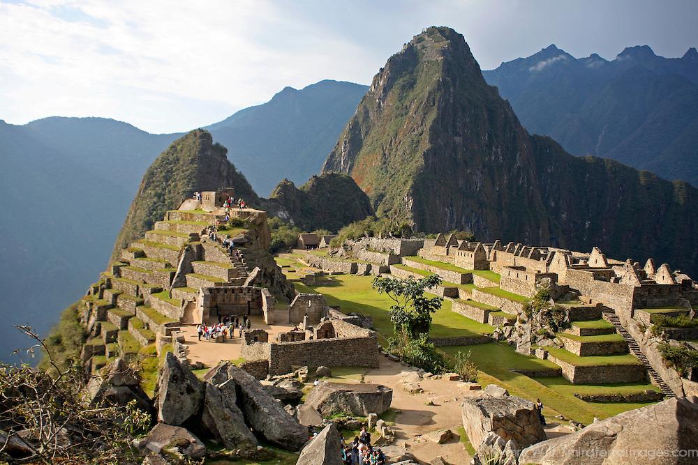 South America, Peru. Machu PIcchu, a UNESCO World Heritage Site.
