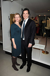 GEORGE & FRANCES OSBORNE at a reception to celebrate the opening of 'Magnificence Of The Tsars' the new exhibition at the V&A held on 9th December 2008.