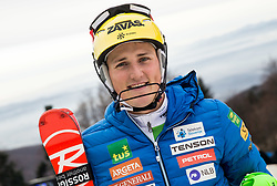 "Stefan Hadalin (SLO) after the 1st Run of FIS Alpine Ski World Cup 2017/18 Men's Slalom race named ""Snow Queen Trophy 2018"", on January 4, 2018 in Course Crveni Spust at Sljeme hill, Zagreb, Croatia. Photo by Vid Ponikvar / Sportida"