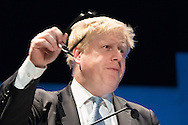 Mayor Boris Johnson addresses the audience during the Mayor of London's People's Question Time at Fairfield Halls, Croydon.<br /> Picture by Paul Davey/Focus Images Ltd +447966 016296<br /> 03/03/2016