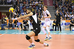 December 16, 2017 - Krakow, Malopolska, Poland - Milah Edabipour Ghara (11) of SKRA Belchatow  in action during the match between Lube Civitanova and SKRA Belchatow during the semi finals of Volleyball Men's Club World Championship 2017 in Tauron Arena. (Credit Image: © Omar Marques/SOPA via ZUMA Wire)