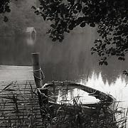 Sunken boat, Loch Ard, Kinlochard, Argyll
