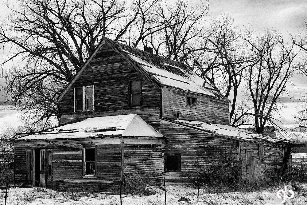 This is a haunted house in South Central Montana near Harlowton.